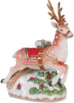 Fitz & Floyd Crimson Holiday Deer Candleholder