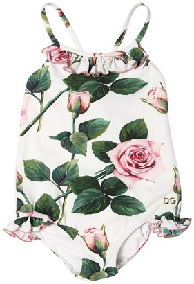 Dolce & Gabbana Rose Print Lycra One Piece Swimsuit