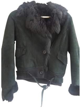 Divina Black Suede Leather Jacket for Women