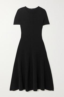 Joseph Berry Stretch-knit Midi Dress - Black
