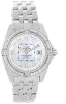 Breitling Windrider Cockpit A71356 Mother Pearl Diamond Womens Watch