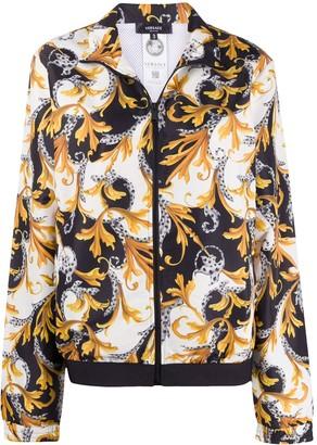 Versace Acanthus-print zipped jacket
