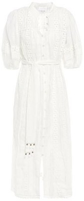 Zimmermann Tasseled Ramie Guipure Lace Midi Dress
