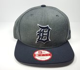 New Era Detroit Tigers 9Fifty Heather Graphite Field Adjustable Snapback Hat MLB