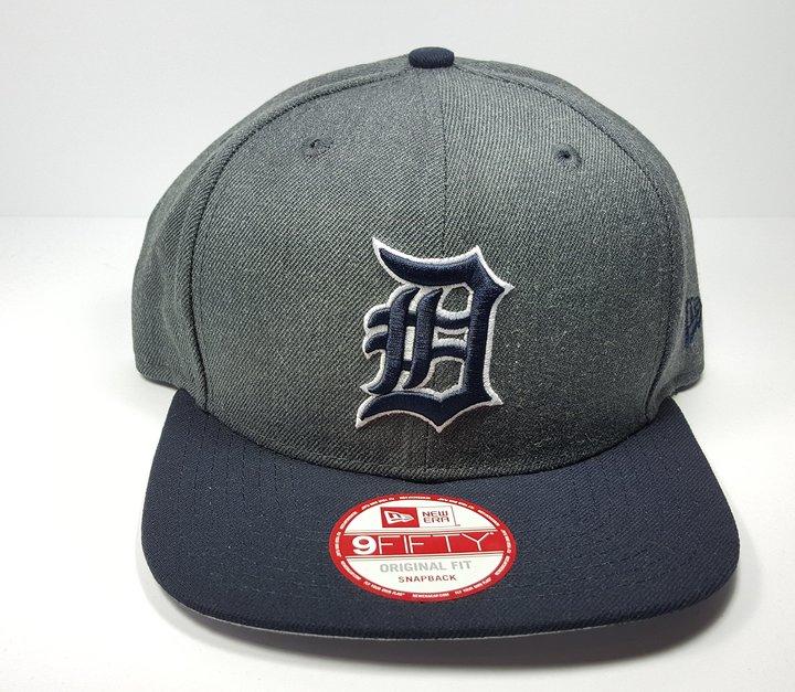 New Era Detroit Tigers 9Fifty Heather Graphite Field Adjustable Snapback Hat MLB