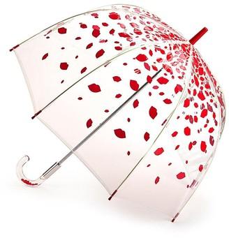 Lulu Guinness Birdcage 2 Raining Lips Umbrella