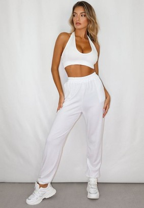 Missguided White Lounge Joggers