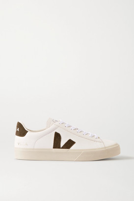 Veja Campo Suede-trimmed Leather Sneakers - White