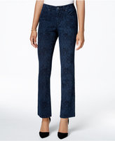 Charter Club Petite Lexington Printed Straight-Leg Jeans, Only at Macy's