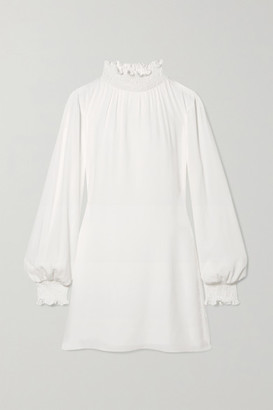 Vanessa Cocchiaro - The C.j. Shirred Crepe Mini Dress - Ivory