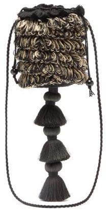 Eliurpi - Tasselled Fringed Straw Basket Bag - Womens - Black Multi
