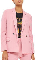 Topshop Tailored Double-Breasted Suit Jacket