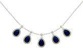 Monet Teardrop Glass Crystal Necklace