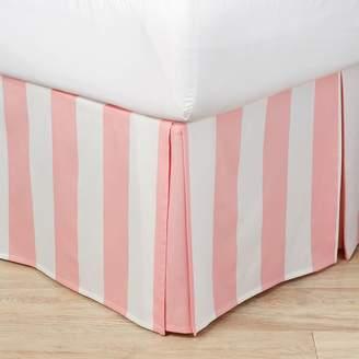 Pottery Barn Teen The Emily &amp Meritt Circus Stripe Bed Skirt, Blush/White, Full