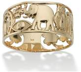 Seta Jewelry Good Luck Ring In 14k Gold.