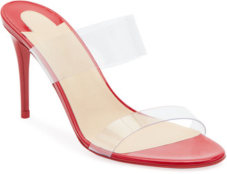 Christian Louboutin Just Nothing Illusion Red Sole Sandals, Red
