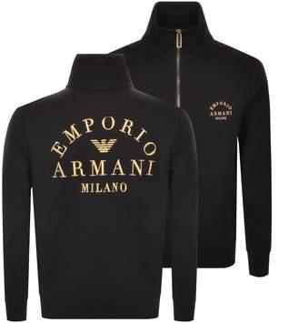 Giorgio Armani Emporio Full Zip Sweatshirt Black