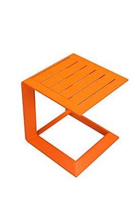Benjara Vibrantly Designed Contemporary Aluminum Side Table