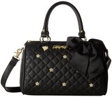 Betsey Johnson Flower Stone Satchel
