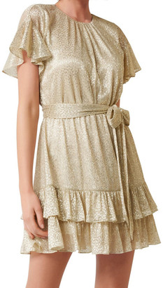 Forever New Camilla Foil Plisse Skater Dress