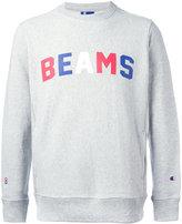 Champion x Beams print sweatshirt - men - Cotton/Polyester - L