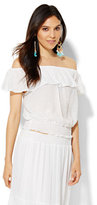 New York & Co. Ruffle Off-The-Shoulder Blouse