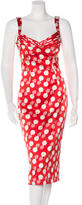 L'Wren Scott Silk Printed Sheath Dress