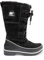 Sorel Tivoli High Ii Waterproof Suede And Leather Boots - Black