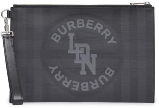 Burberry Logo Check Zip Pouch