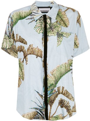 Night Market beaded Hawaiian shirt