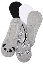 Charlotte Russe Assorted Panda Shoe Liners - 5 Pack