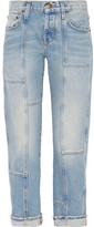 Current/Elliott The Patchwork Crossover Mid-rise Straight-leg Jeans - Mid denim