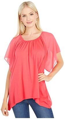 MICHAEL Michael Kors Ruffled Hank Hem Top (Geranium) Women's Clothing