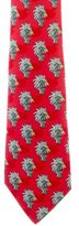 Hermes Abstract Print Silk Tie