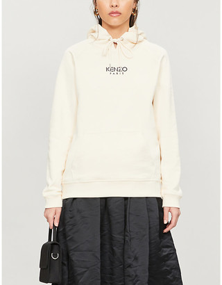 Kenzo Logo-print cotton-jersey hoody