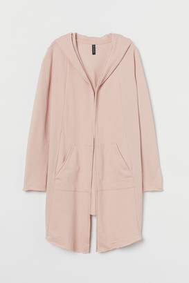 H&M Hooded Sweatshirt Cardigan - Pink