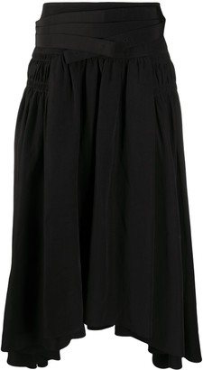 Jil Sander Pleated Mid-Length Skirt