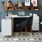 west elm Lacquer Storage Desk Set - Box File + Bookshelf