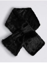 M&S Collection Slot Through Fur Scarf