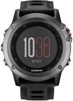 Garmin Unisex Digital Fenix 3 Sapphire Black Silicone Strap Smart Watch 30mm 010-01338-70