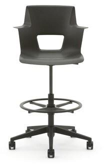 Steelcase Shortcut Drafting Chair Frame Finish: Black/Black