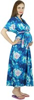 Bimba Cotton Kaftan Front Buttons Nursing Mother Hospital Delivery Gown, To be Moms Gift