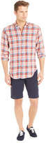 J.Mclaughlin Gramercy Linen Classic Fit Shirt in Plaid