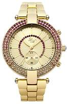 Little Mistress Women's Quartz Watch with Gold Dial Analogue Display and Gold Bracelet LM010
