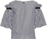 Osman Hilma ruffled striped top