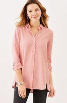 J. Jill Silk Forward-Seam Shirt