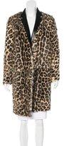 Celine Ponyhair Leopard Print Coat