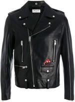 Saint Laurent bird patch biker jacket