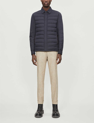 Ermenegildo Zegna Quilted shell-down shirt jacket