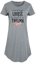 Instant Message Women's Women's Tee Shirt Dresses HEATHER - Heather Gray 'Every Louise Needs a Thelma' Short-Sleeve Dress - Women & Plus